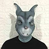 ZFBMY Halloween Hare Girl Cute Mask Head Set Bunny Ears Látex Tocado Bar Maquillaje Ball Show Props