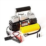 MEI XU Auto-Luftkompressor -12v Auto-Hochleistungsluftpumpe, tragbares Auto-Multifunktionsreifen-elektrische Luftpumpe-Doppelzylinder mit Licht