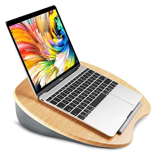HUANUO Support pour Ordinateur Portable avec Coussin et Plate-Forme en Bambou sur Le Lit et Le...
