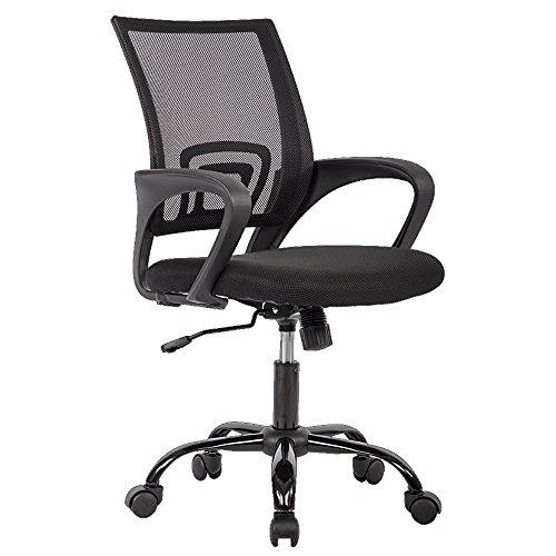 Ergonomic Mesh Computer Office Desk Midback Task Chair w/Metal Base, One Pack