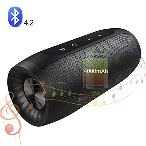SHENGY kleine draagbare luidspreker, waterdichte bluetooth-muziekspeler, stereo-installatie, 4000 mAh-accu met hoge capaciteit, TF-kaart, USB-opladen, AUX