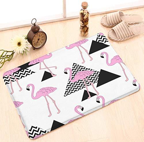 Amanda Walter rutschfeste Fußmatte Inneneingang Teppich Dekor Matte (23,6 'X15,7') Nahtlose Flamingo Tropic Muster Handzeichnung Flamingo Tropic Muster Einfach