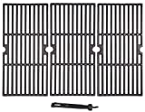 WINTRON BBQ Grill 16-15/16 Inch Matte Cast Iron Cooking Grate Replacement for Charbroil Advantage 463343015, 463344015, 463344116, Kenmore, Broil King Gas Grill, G467-0002-W1, 3-Pack