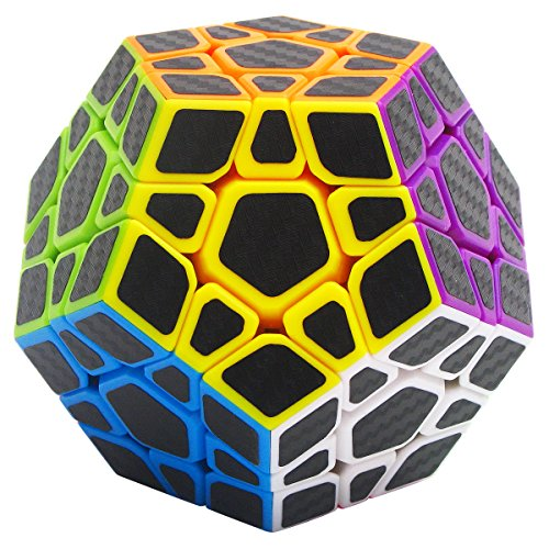 LSMY Speed Cube Megaminx 3x3, Puzzle Mágico Cubo Carbon Fiber Sticker Toy