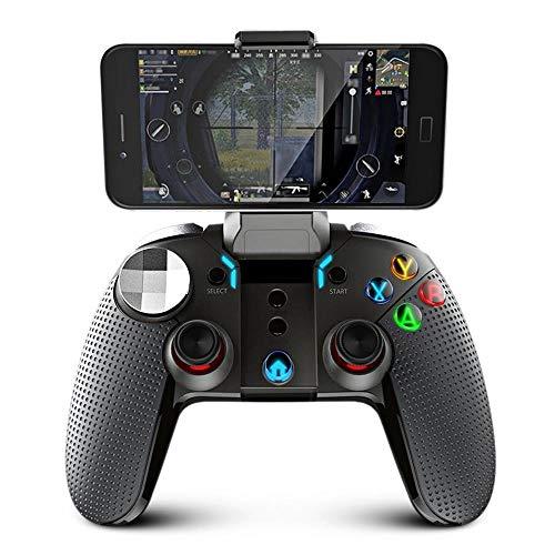 Manette De Jeu USB Jeu Gamepad sans Fil Bluetooth for Game PUBG Mobile Entertainment Game Controller (Color : Black, Size : One Size)