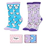 Women Teeth Socks, Funny Novelty Dental Gifts for Dentist Hygienist Assistant in 2 Pack