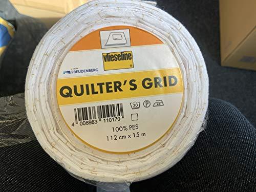 Vlieseline Quilters Gittermuster, Meterware, Weiß