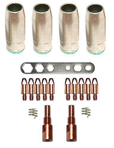 Verschleißteile Set MB 25/250 M6 0,8 Stromdüsen, Gasdüse, Düsenstock MIG/MAG