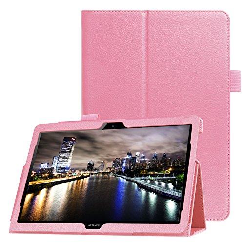 WiTa Store - Custodia protettiva in ecopelle per Huawei MediaPad T3 10 Stand Case 9.6 pollici in omaggio pennino capacitivo rosa Rosa