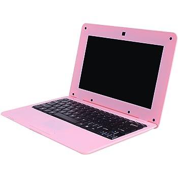Fancy Cherry® Nueva 2017 HD 10 Pulgadas Mini Laptop Notebook Netbook Tablet Computer 1 G DDR3 través WM8880 CPU Dual Core Android de Pantalla Cámara WiFi Teclado USB HDMI Netbook (Netbook 8G-Rosa)