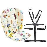 Passeggino/Seggiolone Cuscino sedile Liner Mat Pad Cover Resistente e cinghie seggiolone (Imbracatura 5 punti) 1 Abito (Giraffa)