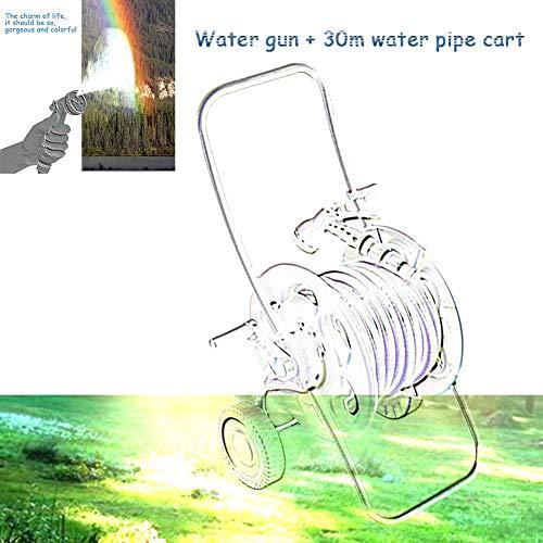 Carretilla para manguera de agua de jardín, 30 m, para plantas al aire libre