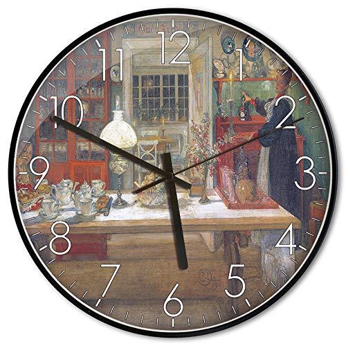 kein nerviges Ticken Cander Berlin MNU 7130 Vintage Wanduhr aus MDF mit lautlosem Uhrwerk 30,5 cm /Ø