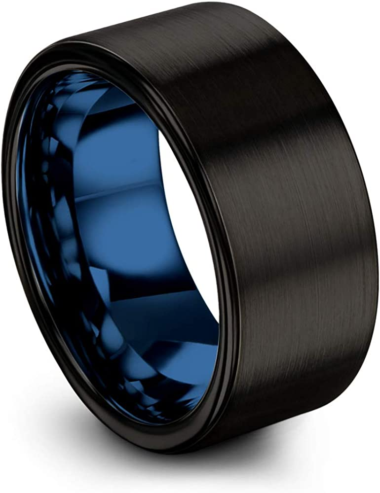 Chroma Color Collection National uniform free shipping Tungsten Carbide Memphis Mall 10mm Band Ring Wedding