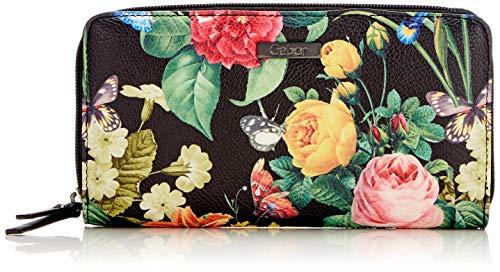 Gabor Damen Granada Bloom Geldbörse, Schwarz (Schwarz), 14x10x4.5 cm
