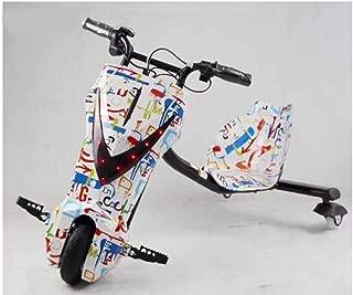 YIAIY Triciclo Eléctrico Drift, Juguete Eléctrico Kart Vespa De Los Niños Fresca 36V del Coche Eléctrico De 20 Km/H,Natural