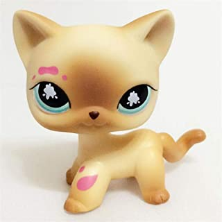 FINIMY Pet Shop Toys Lps Toy Littlest Lps Toys Collections Standing Short Hair Cat White Black Dachshund Dog 30