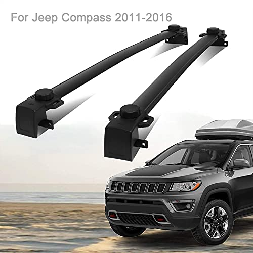SFSGH Barras transversales para portaequipajes de Techo para Jeep Co-MP-Ass 2011-2019, aleación de Aluminio/sin Necesidad de perforar, Carga 330 LB, Accesorios de Estilo de Coche, 2011-2