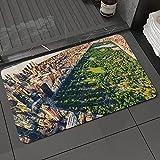 Alfombra de baño y Alfombra antideslizanteCentral Park de Estados Unidos Desde el Aire rodeado de Edificios Vista del centroAlfombrilla de Ducha de Microfibra (50x80cm)