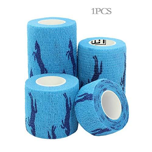 nbvmngjhjlkjlUK Selbstklebender elastischer Verband Notfallmedizinische Versorgung im Freien Sport Fitness Behandlung Wasserdichtes Mullband (blaues Pony (L))