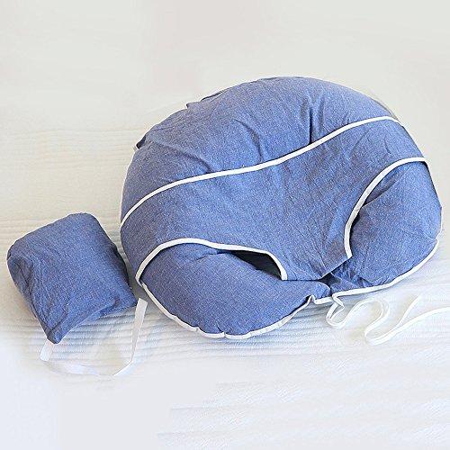 LJHA Oreillers d'alimentation Infantile d'allaitement artefact Tenir l'oreiller Oreillers de lait anti-broche Coussin 4 couleurs disponibles 60 * 60cm Oreillers d'allaitement ( Couleur : B )