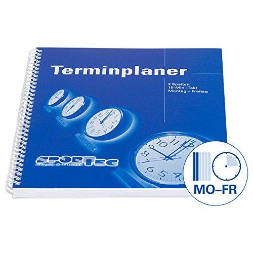 Sport-Tec Terminplaner, 2 Spalten, 15-Min.-Takt, Montag - Freitag, A4