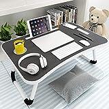 JKGHK Verstellbarer Laptop-Betttisch Lap Desk, tragbarer Betttisch mit Tablet-Schlitzen und...