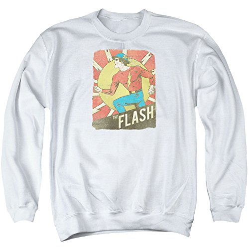 DC Flash Tattered Poster Sweat à col rond pour adulte