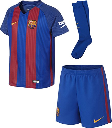 Nike FCB Lk Hm Kit - Ausrüstung Linie F.C. Barcelona für Junge, Farbe Blau, Größe L