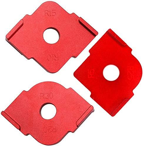 Quick Jig, 3 PCS Halbrunde Ecke Radius Quick Jig, R Winkel Locator Aluminiumlegierung Graviermaschine für die Holzbearbeitung (3 STÜCKE)