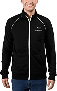 Men's Embroidered Print Pre-Shrunk Piped Fleece Jacket - Theme - Tech Maestro