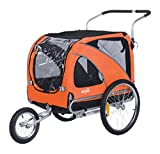 Sepnine Pet Dog Bike Trailer, Orange