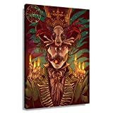 CZWZDY Voodoo Mythology Bawon Samdi Poster Pictures Decor Art Oil Kitchen Photos Modern Living Room Decorations Painting for Wall Aesthetic