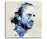 Kevin Costner Aqua 60x60cm - Splash Art Paul Sinus Wandbild