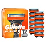 Gillette Fusion5 - Cuchillas de afeitar para hombre (12 unidades, hasta 20 afeitados por hoja)