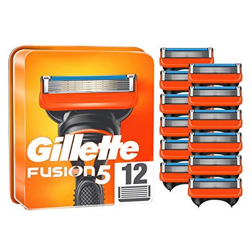 Gillette Fusion 5 Rasierklingen, 12 Rasierklingen pro Packung, mit Anti-Irritations-Klingen für bis zu 20 Rasuren pro Klinge, aktuelle Version