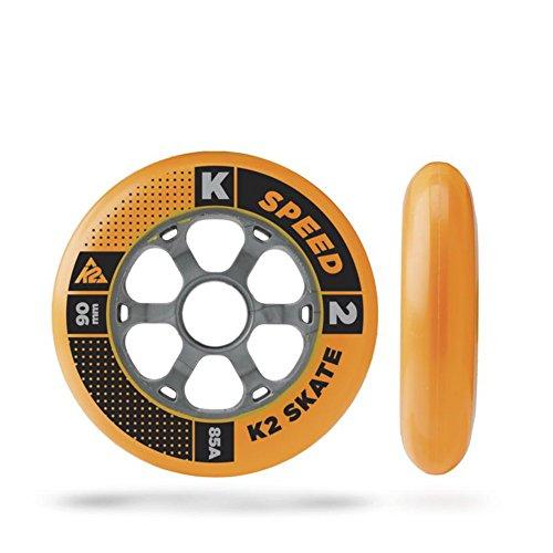 K2 Skates Unisex-Erwachsene 90 MM WHEEL 8-PACK/ILQ 9, ALUM SPACER Inline Skates Rollen, Mehrfarbig, 90mm