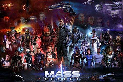 21inch x 14inch/52cm x 35cm Mass Effect III Silk Poster