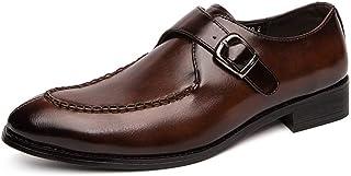 CAIFENG Song Zapatos de Vestir Formal for Hombres de Negocios Oxford Slip-en el Cuero sintético de tacón bajo Antideslizan...