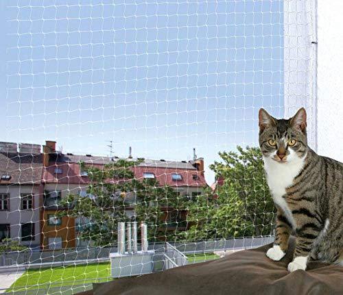 Protección de Red Para Gatos 6x3m, Protector Negro Neto Para los Gatos 6x3m, Transparente, Trixie, a Través de la Puerta, de Protección de Redes, las Barras de la Ventana, Gatos