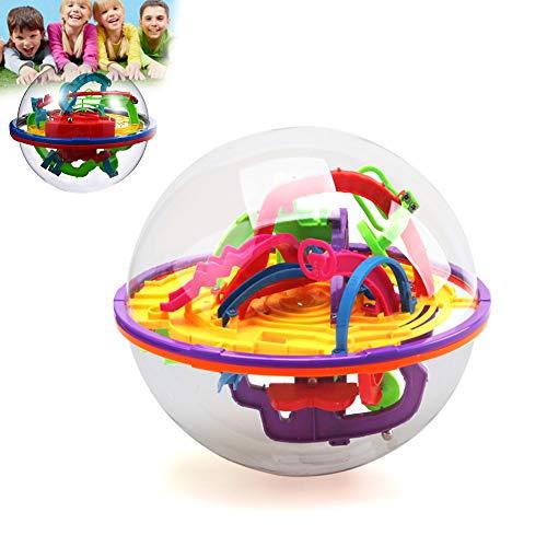 Beito 1pcs intellectuelle 3D Labyrinthe Balle Jouets Cadeau Jeu indépendant pour Les Enfants Contenant différentes barrières Difficiles