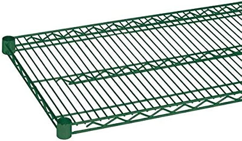 Quantum Single Wired Shelf For Shelving Kit 800lb NSF Green EPOXY