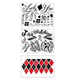 HQ Full Body Professional Temporary Tattoo Bundle - 3 Sheets w/ 24 Tats - Costume / Cosplay