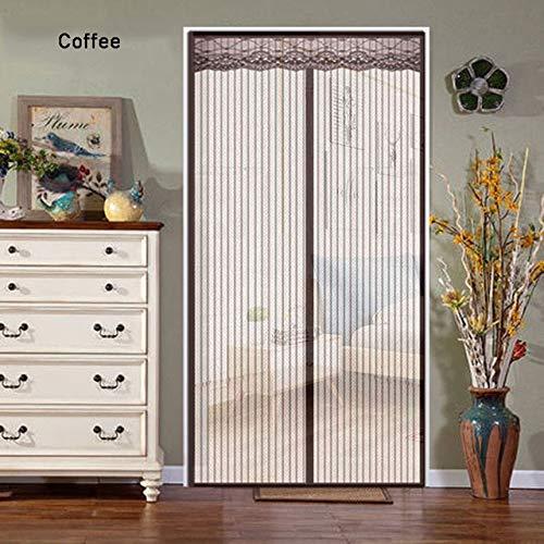Magnetische Anti-Moskito-Bildschirm Tür Anti-Moskito-Fliegengitter schließt automatisch den Küchentürvorhang dreifarbige Persönlichkeit Inneneinrichtung Türvorhang B4 B 120 x H 210 cm