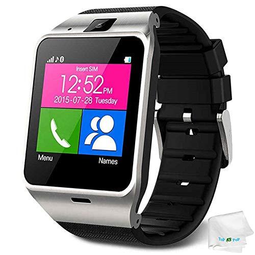 Smart Watch Anti Lost Bluetooth Wristwatch Pedometer Activity Tracker Sports Smartwatch Music Wristband Compatible with Men Women Boys Android Phones Samsung Galaxy S9 S8 S7 Huawei ZTE Motorola Black