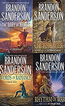 Stormlight Archive 4-Book Set The Way of Kings Words of Radiance Oathbringer Rhythm of War