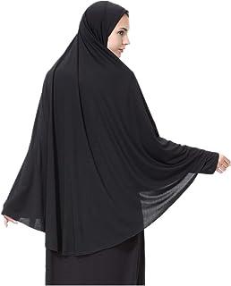 Women's High Stretch Hijab Muslim Arabian Long Milk Silk Purity Color Chiffon Hijab