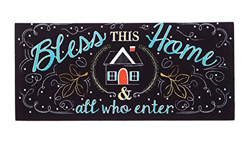Evergreen Bless This Home Decorative Mat Insert, 10 x 22 inches