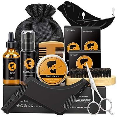 AOVSHEY Bartpflege Set Geschenkset