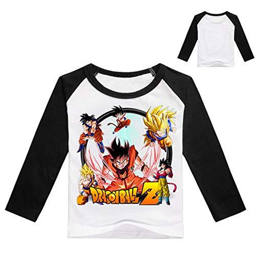Dragon Ball Pullover Langärmliges T-Shirt Rundhalsausschnitt Lässige Blusen Cartoon...